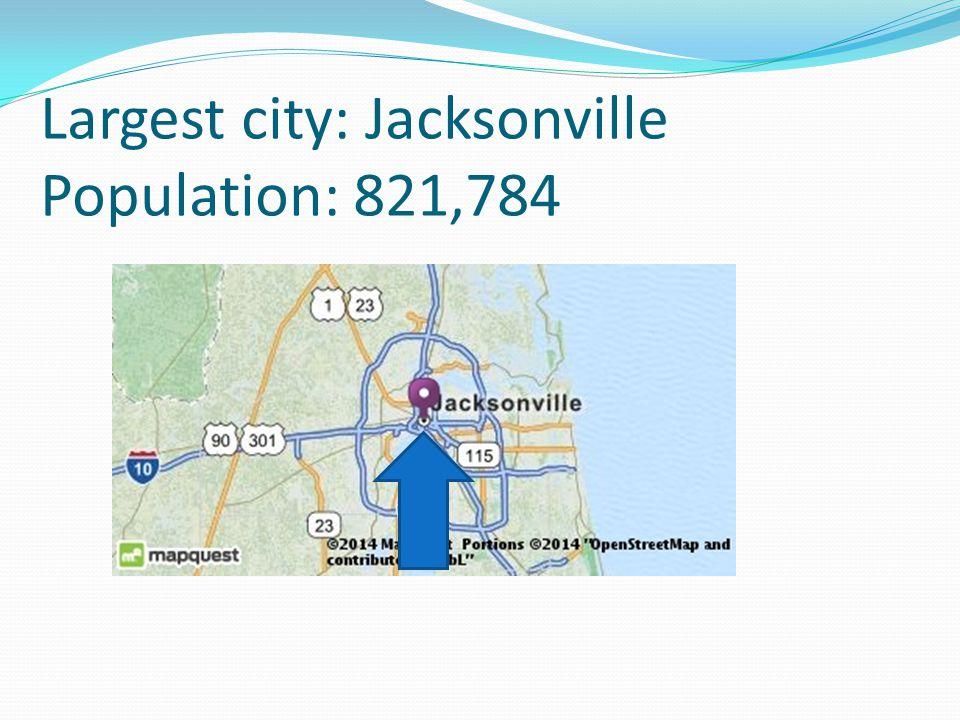 Largest city: Jacksonville Population: 821,784