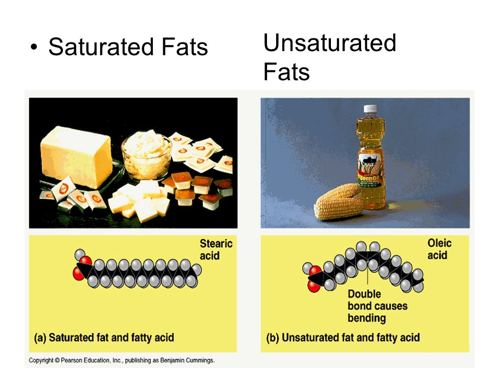 Saturated Fats Unsaturated Fats