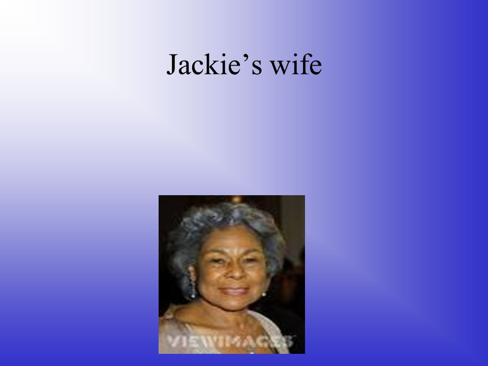 Jackie's wife
