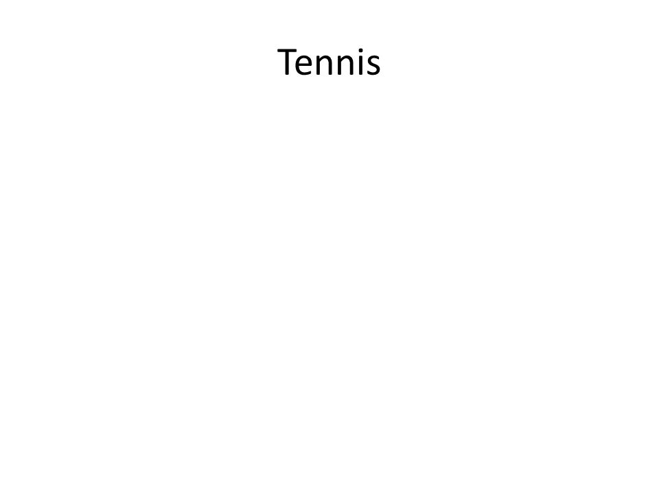 I am usually yellow You typically hit me with a racket What sport am I