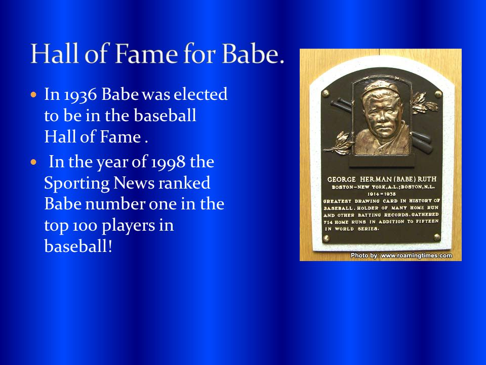 Off the field Babe was very famous for his charity work.