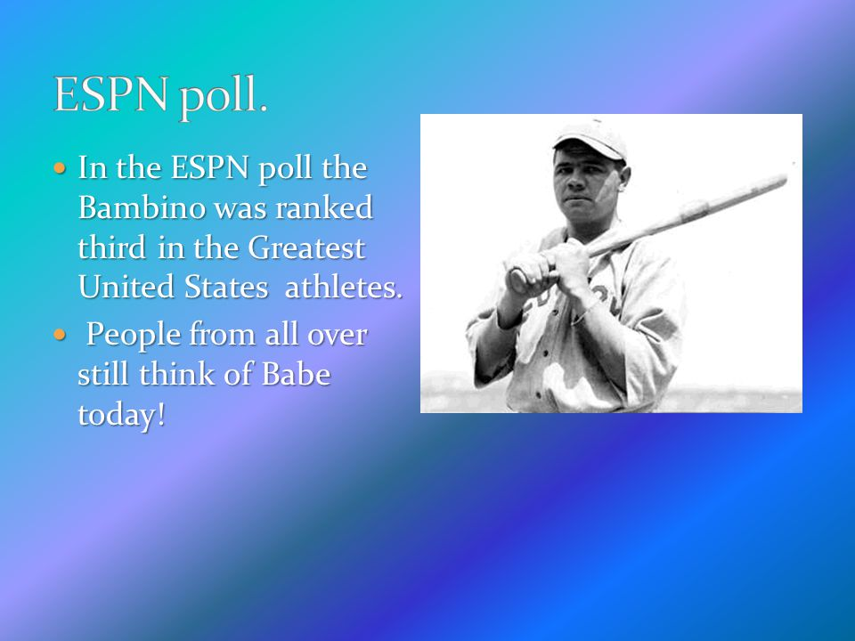 The Bambino was the only player in history to have a season with two hundred hits and one hundred fifty walks.