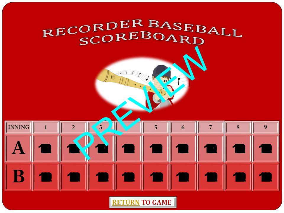 HOME RUN SCOREBOARD PREVIEW