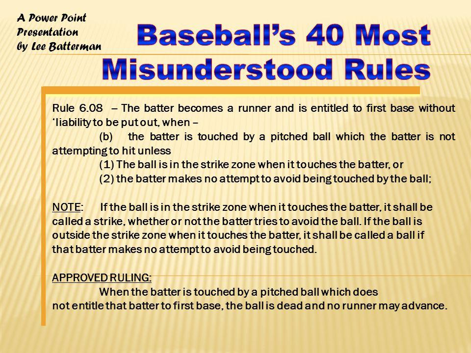 A Power Point Presentation by Lee Batterman Rule.