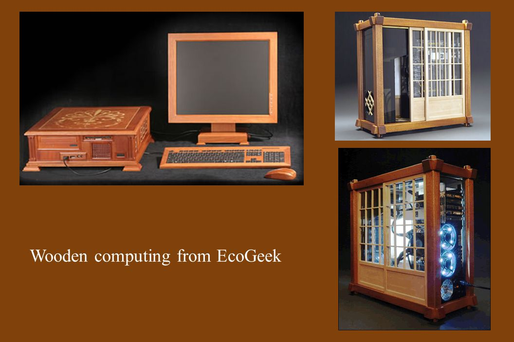 Wooden computing from EcoGeek