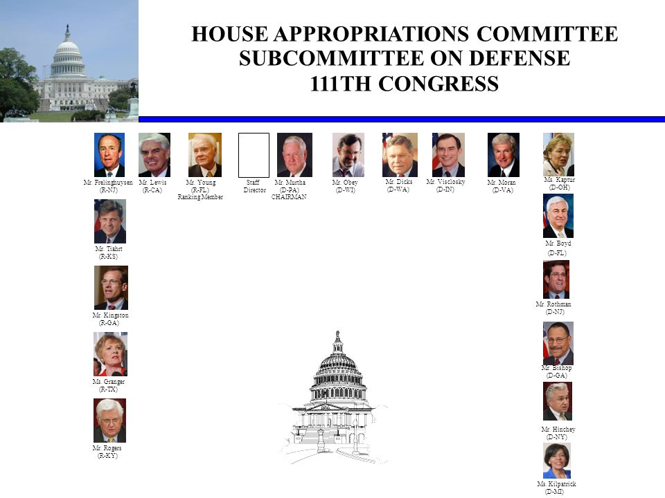 Appropriations Status  FY09 OCO Request  American Recovery & Reinvestment Act  FY10 Defense Appropriations Bill  FY10 Military Construction Bill  FY10 OCO Request