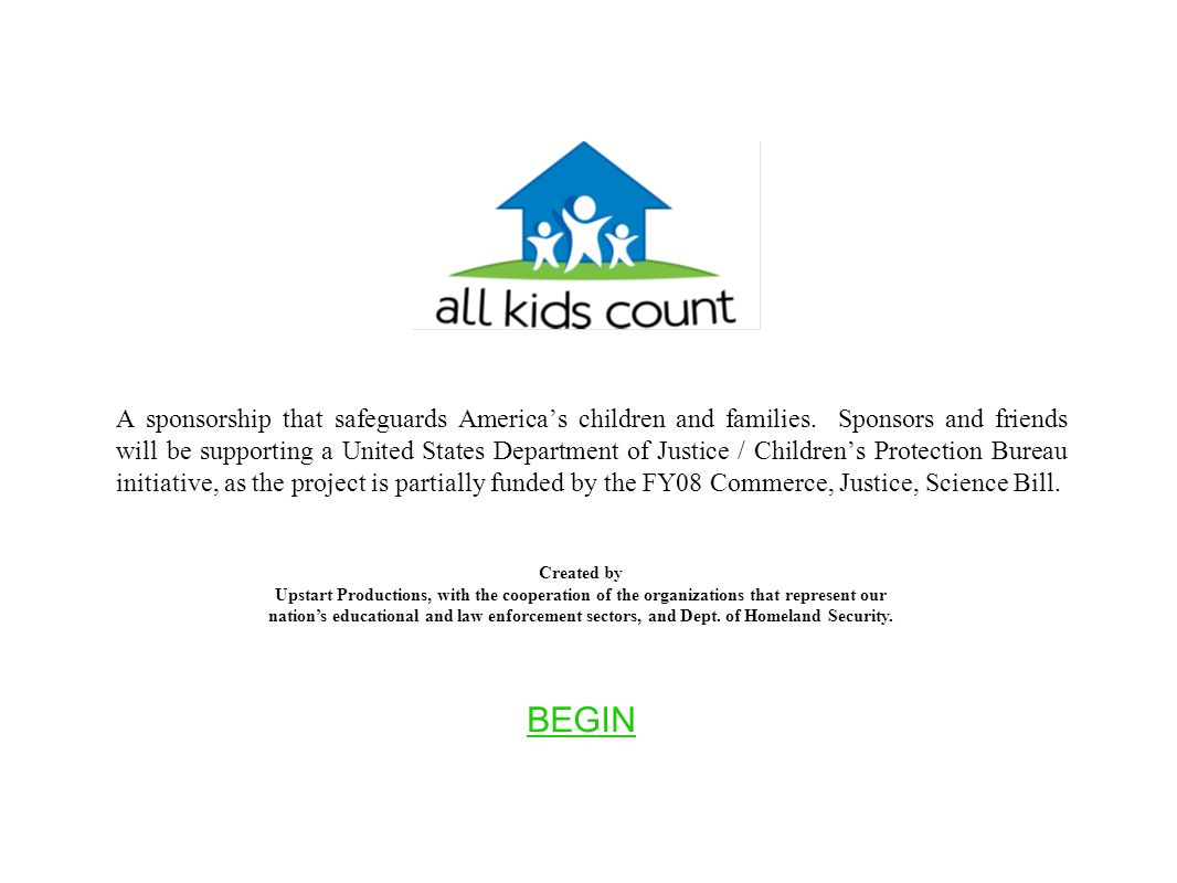 A sponsorship that safeguards America's children and families.