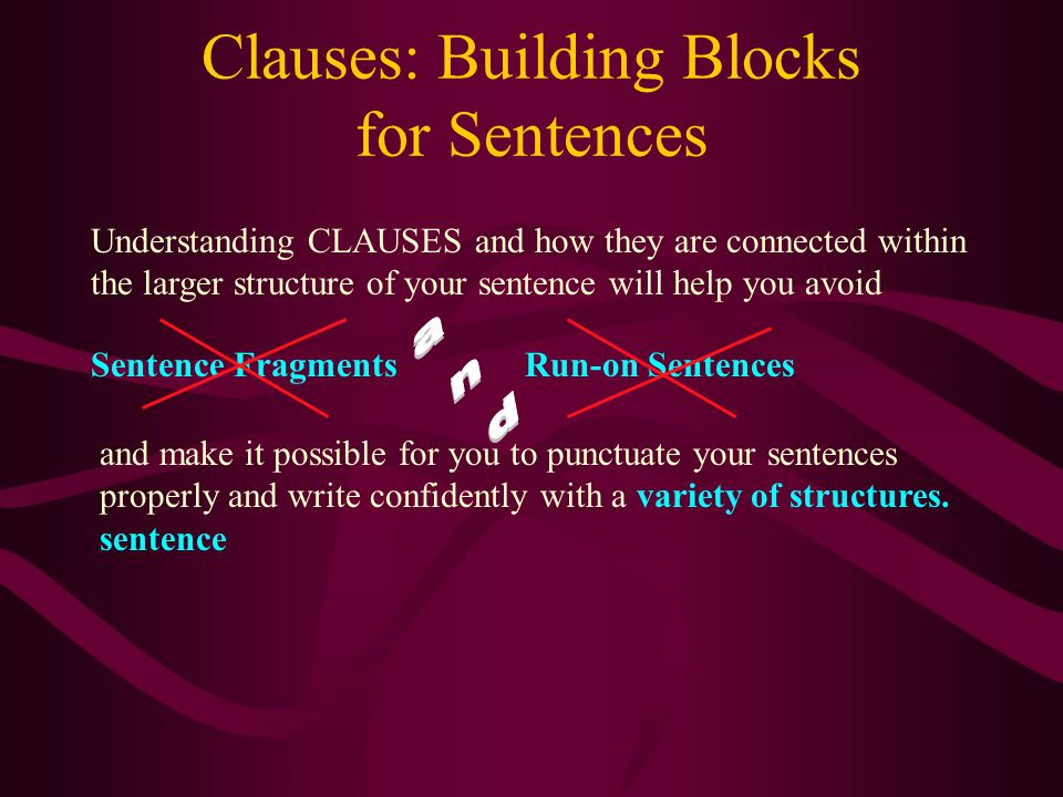 Clauses: Building Blocks for Sentences Sometimes an adjective clause has no subject other than the relative pronoun that introduces the clauses. The I