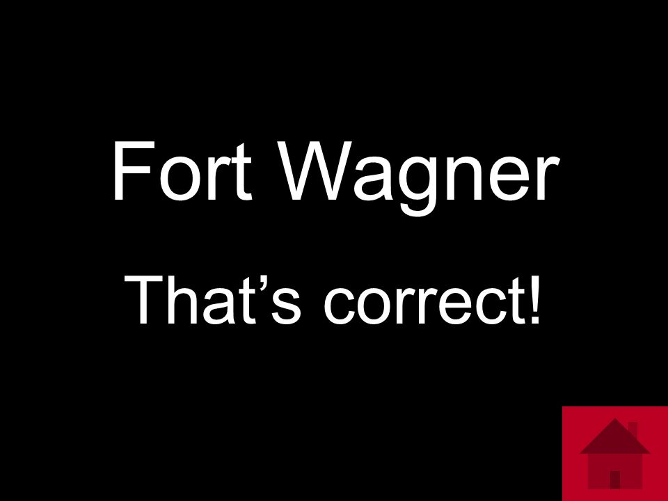 Fort Wagner That's correct!