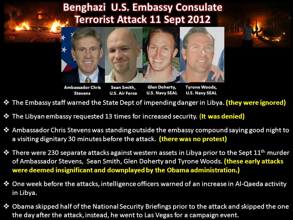  The Embassy staff warned the State Dept of impending danger in Libya.