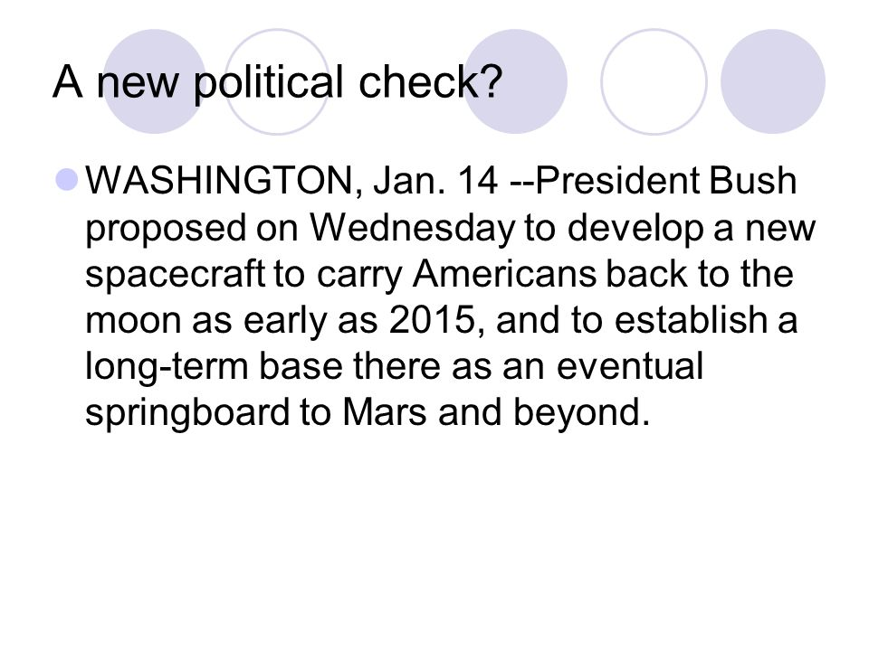 A new political check. WASHINGTON, Jan.