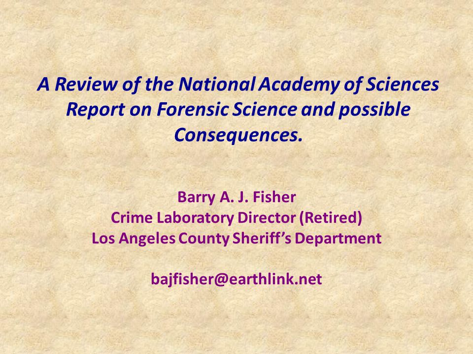 Objective: The purpose of this presentation is to give an overview of recent developments concerning forensic science in the United States and to comment on possible implications within the U.S.