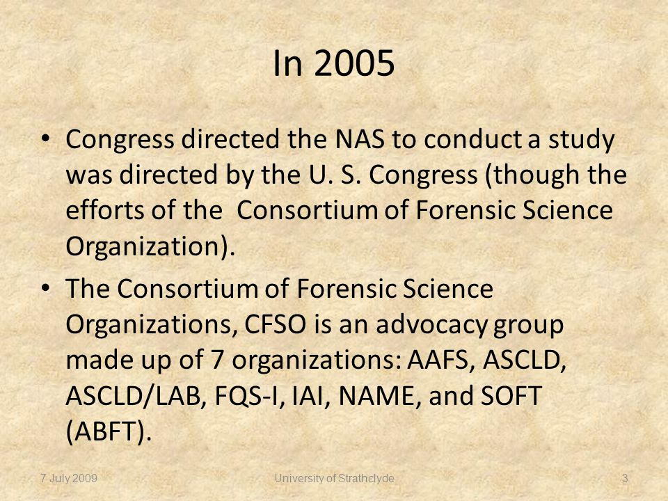 Background on the CFSO Why the CFSO.– Advocacy. How the CFSO began.