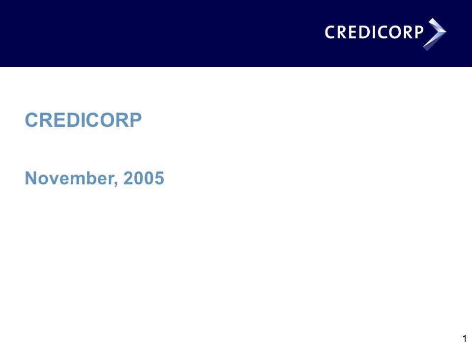 1 CREDICORP November, 2005