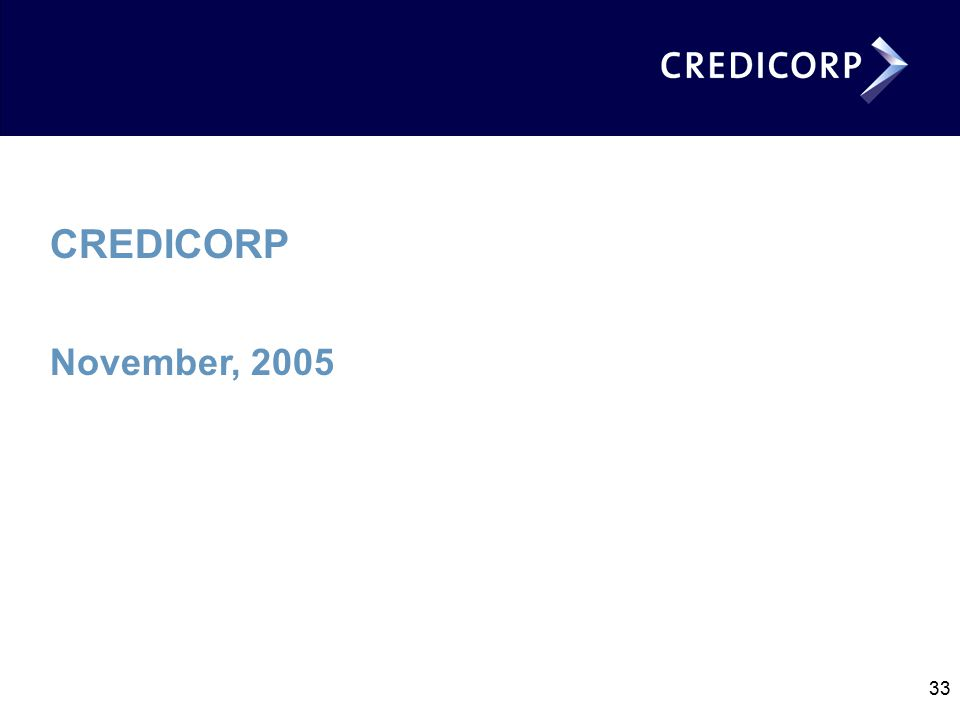 33 CREDICORP November, 2005
