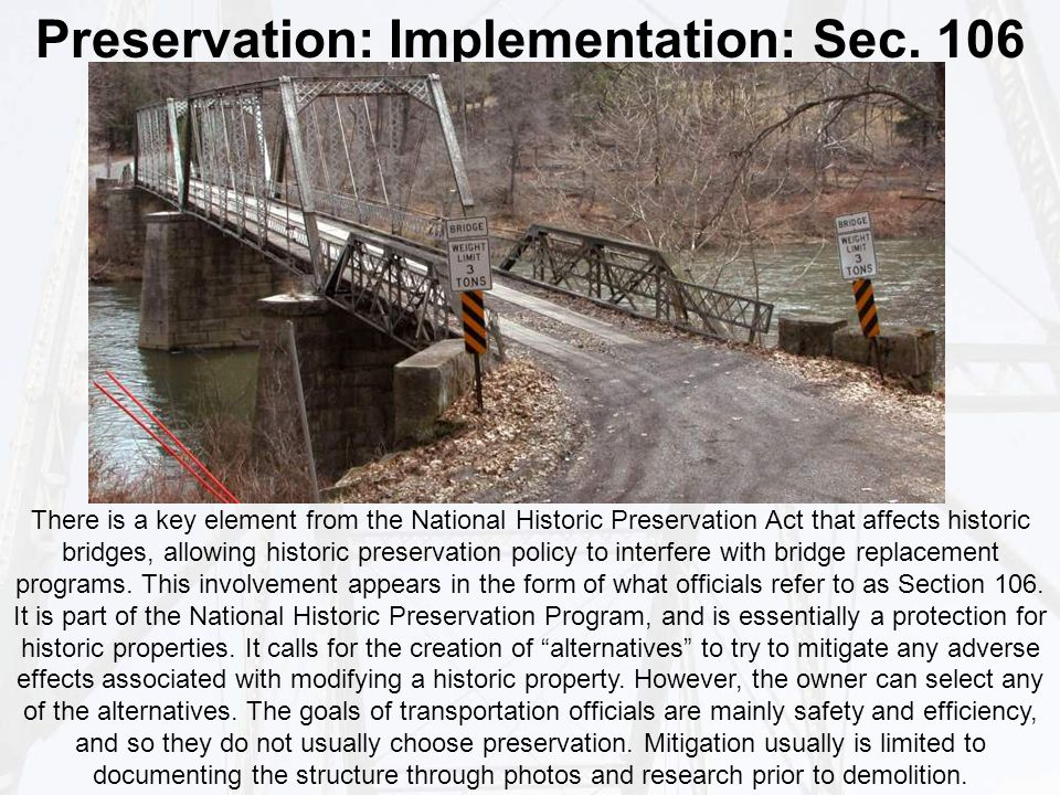 Preservation: Implementation: Sec.