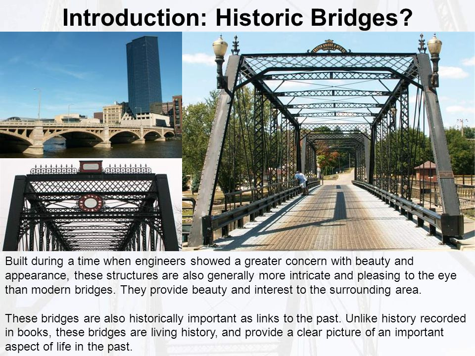 Introduction: Historic Bridges.