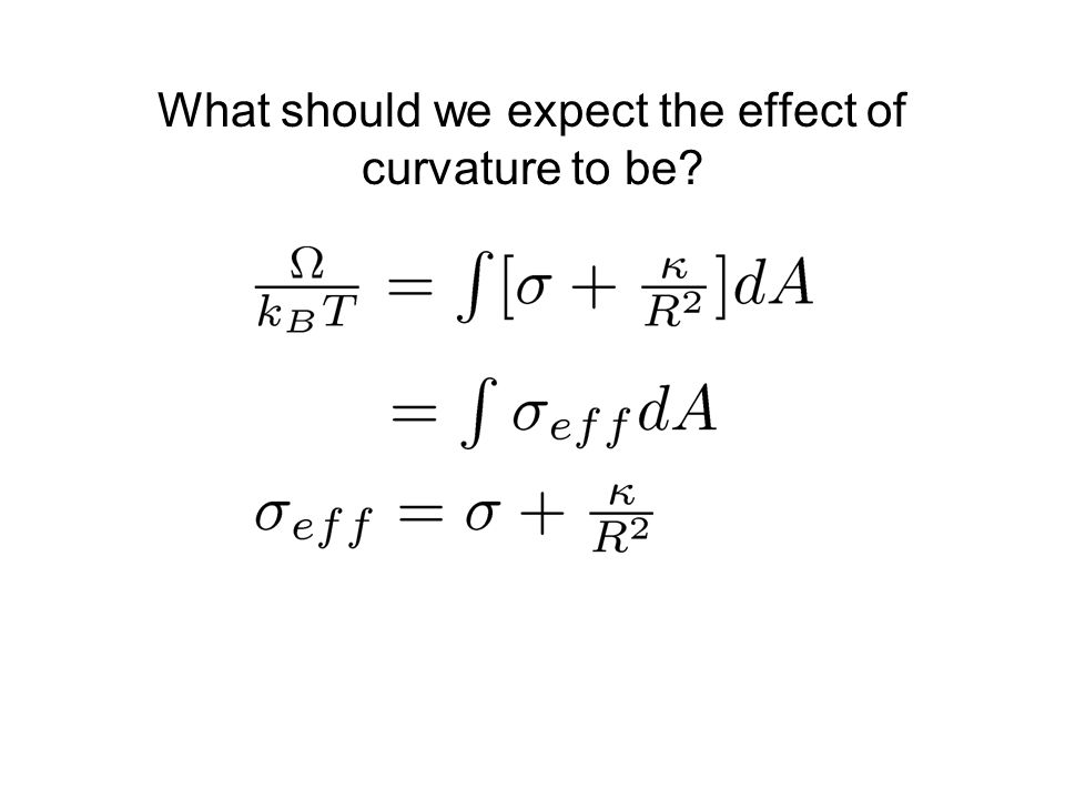 What should we expect the effect of curvature to be?