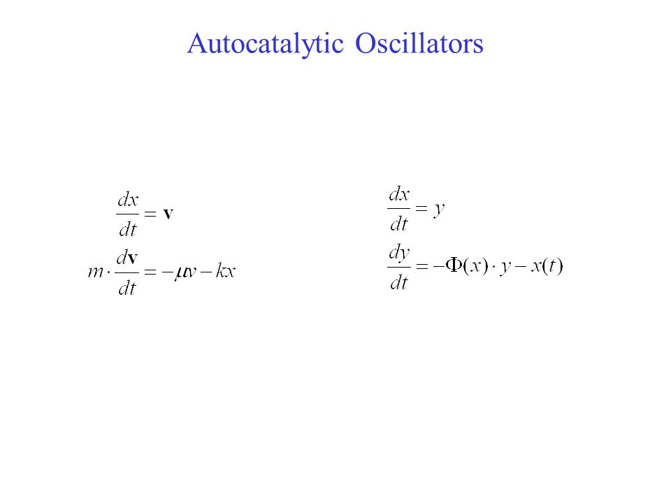 Autocatalytic Oscillators