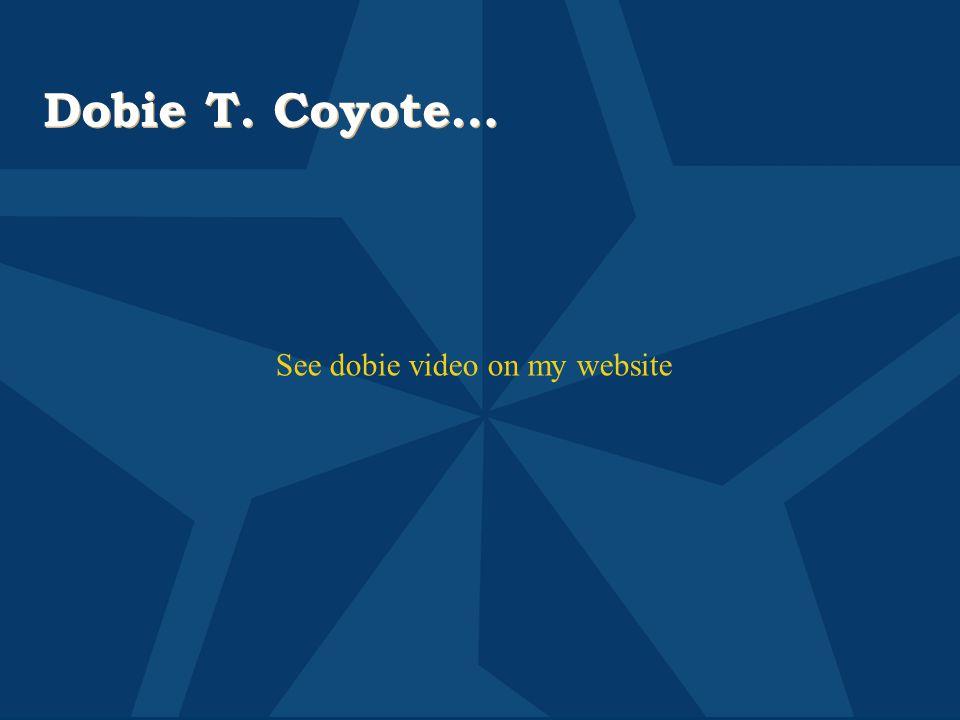 Dobie T. Coyote… See dobie video on my website