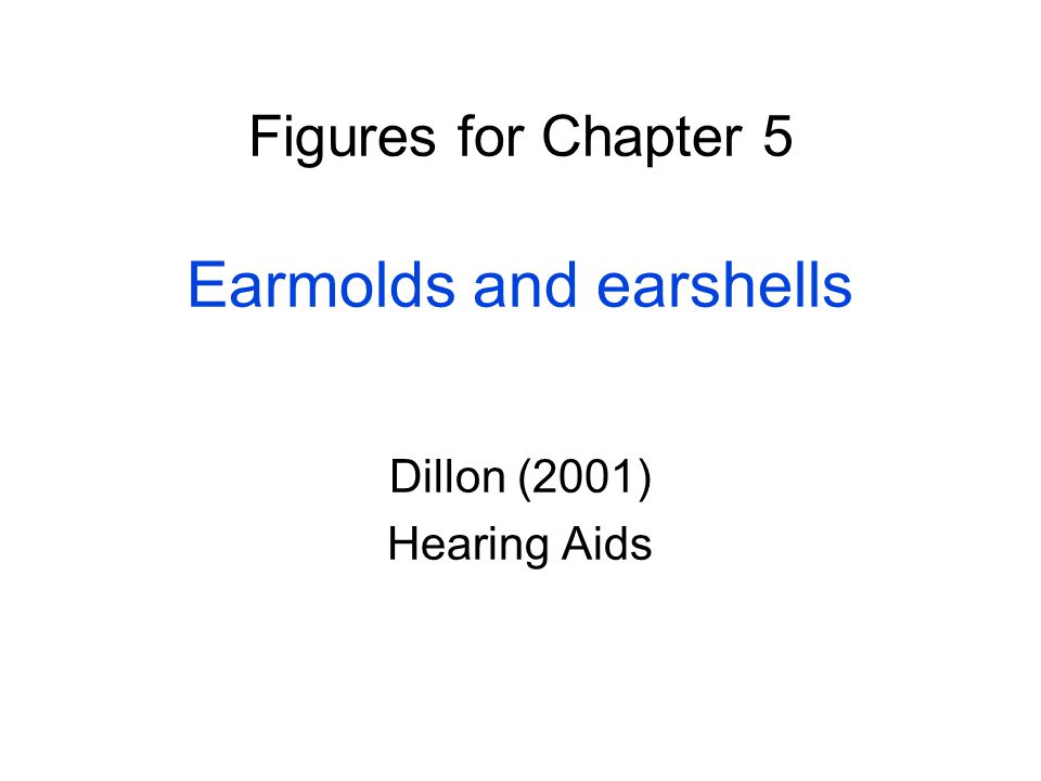Figures for Chapter 5 Earmolds and earshells Dillon (2001) Hearing Aids