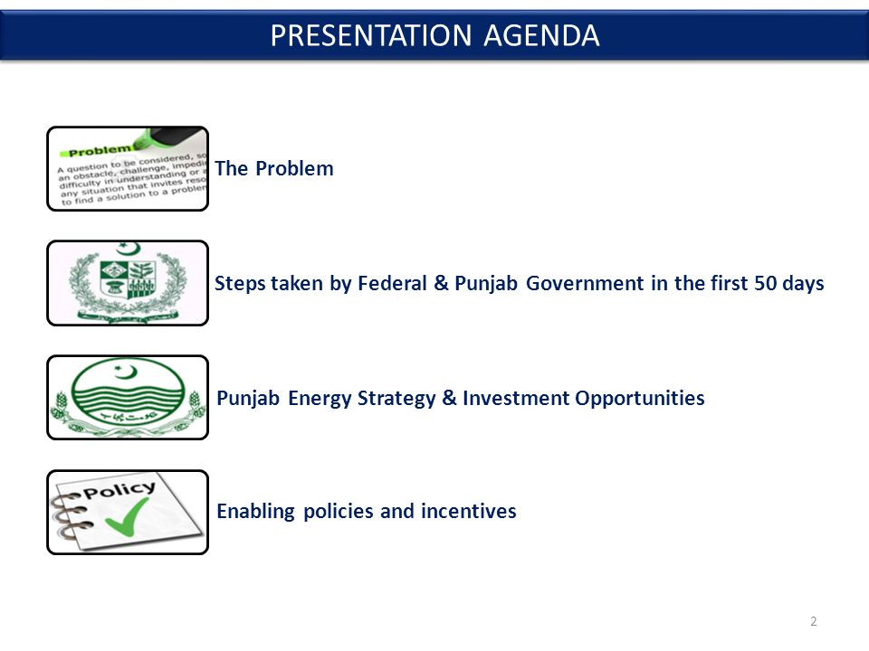 VISION To enhance Punjab's energy security and fuel economic growth by creating an environment that can reliably meet the energy demands of all sectors of Punjab's economy through a sustainable and affordable energy mix and its efficient use Attract Private Sector Investment Provide Enabling Environment Promote Energy Efficiency PUNJAB ENERGY STRATEGY 13
