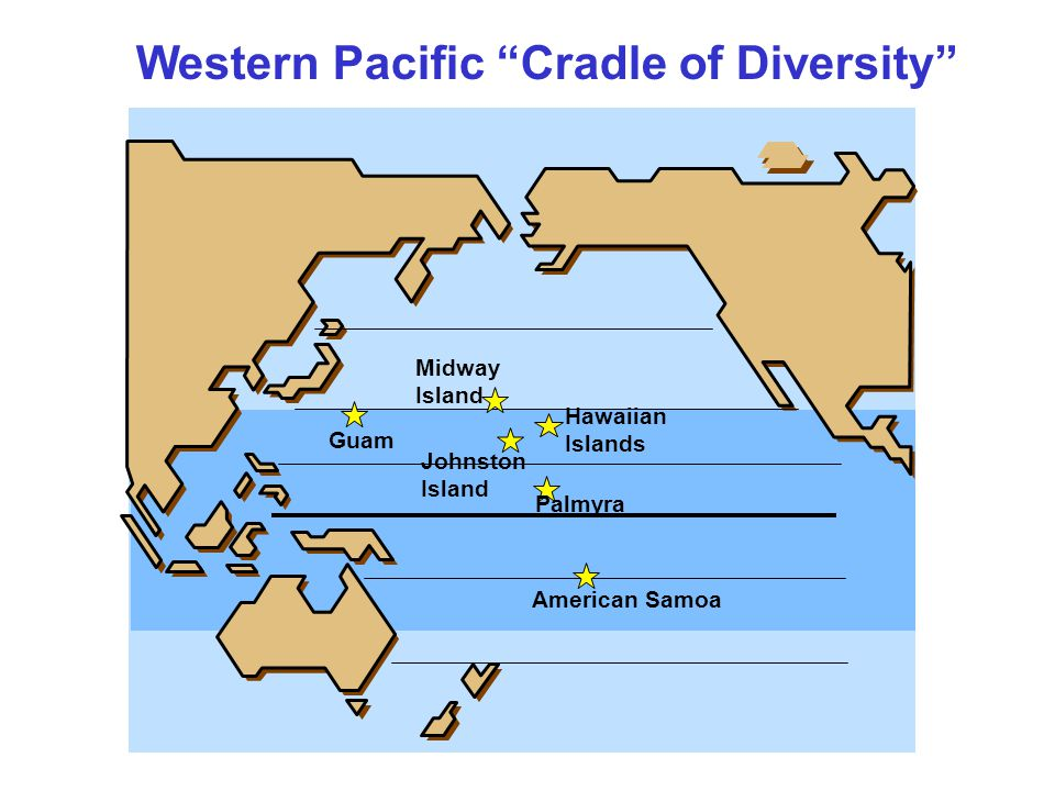 Western Pacific Cradle of Diversity Guam American Samoa Johnston Island Midway Island Hawaiian Islands Palmyra