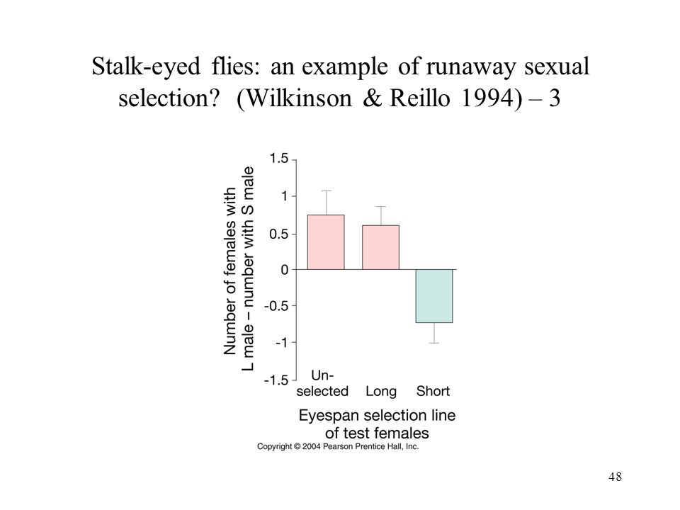 48 Stalk-eyed flies: an example of runaway sexual selection? (Wilkinson & Reillo 1994) – 3