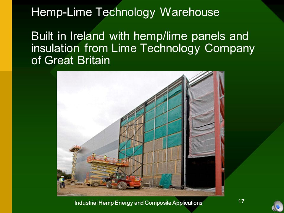 18 Industrial Hemp Energy and Composite Applications 18 Hemp is an ideal material: For making biofuels and biochar for agriculture To mitigate global warming, and forest degradation To stabilize the world economy To revolutionize, building materials, and construction technologies To provide Green Collar Jobs, and Employment.