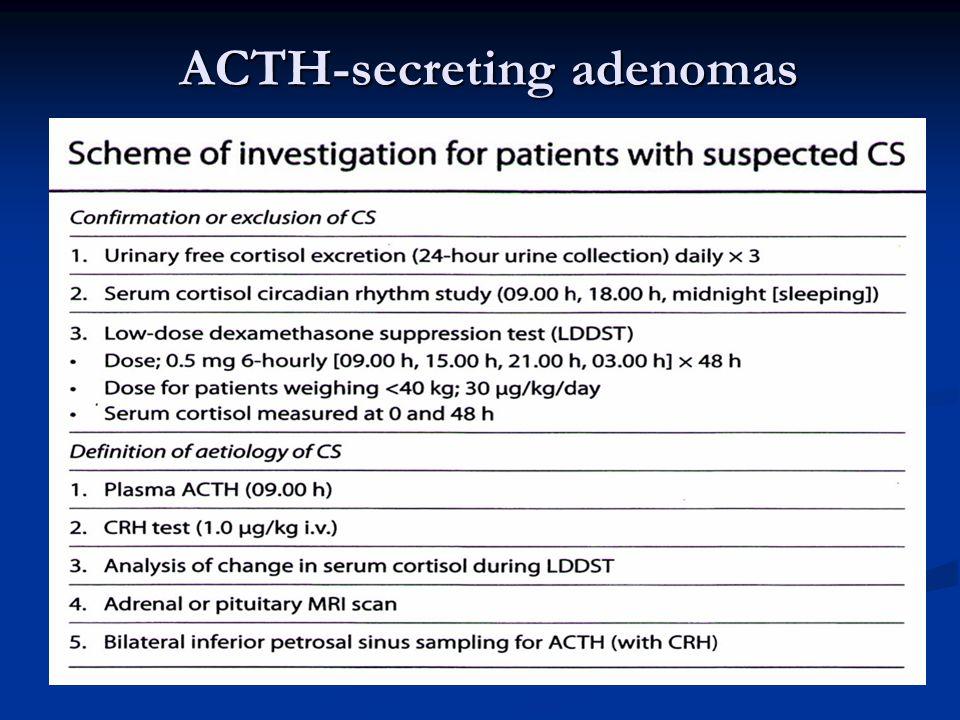 ACTH-secreting adenomas