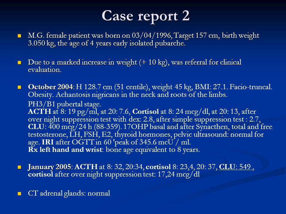 Case report 2 M.G.