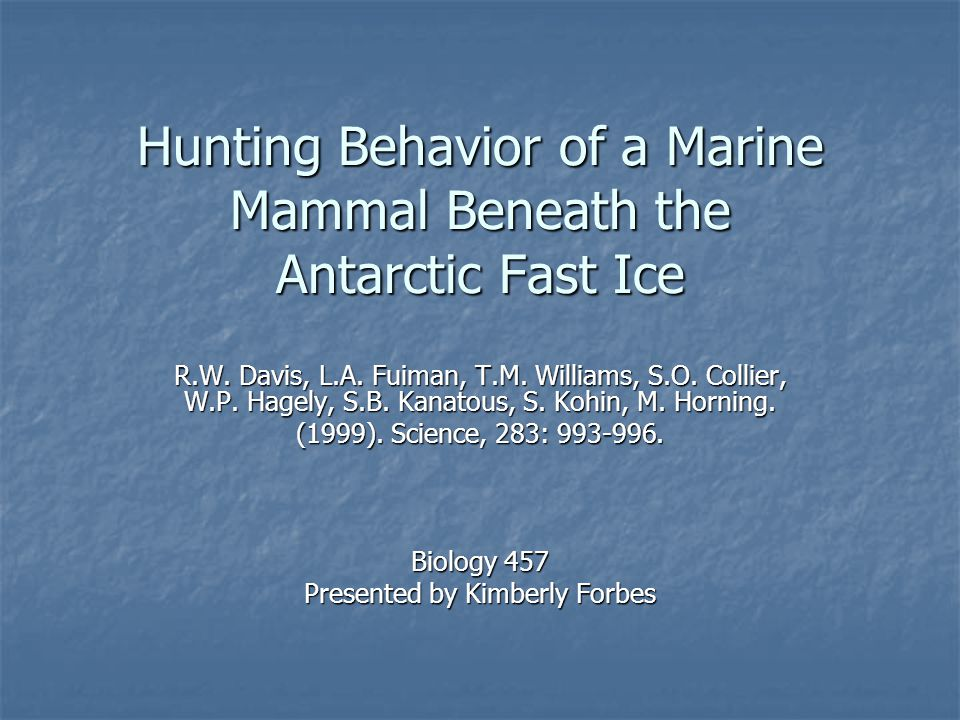 Background Little known about marine mammal foraging behavior Little known about marine mammal foraging behavior Difficulty with observation Difficulty with observation Previous methods insufficient Previous methods insufficient (a) based on indirect information (b) don't allow direct observation