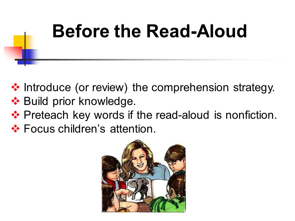 Before the Read-Aloud  Introduce (or review) the comprehension strategy.