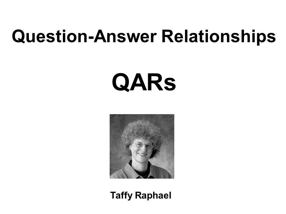 Question-Answer Relationships QARs Taffy Raphael