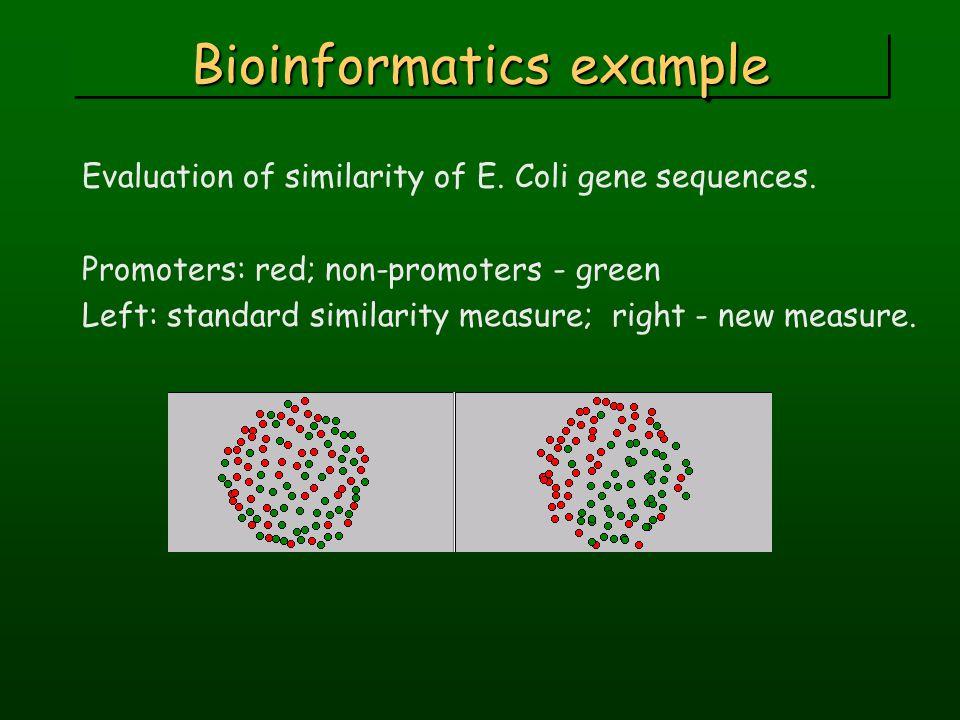 Bioinformatics example Evaluation of similarity of E.