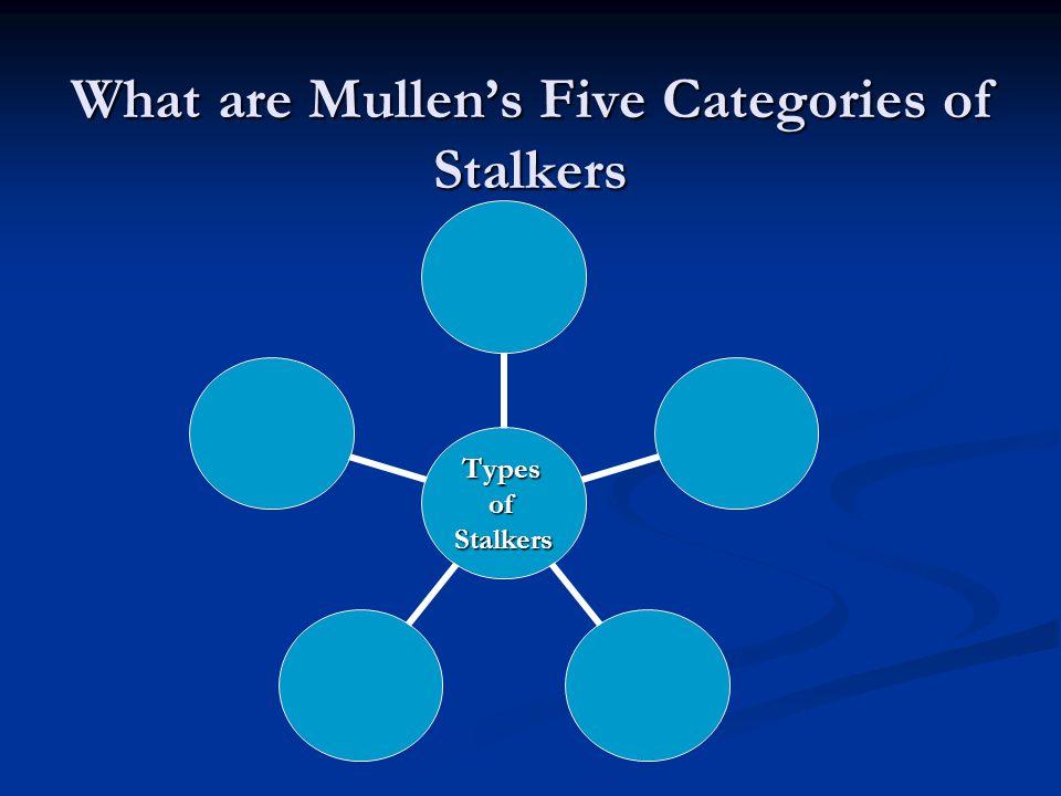 What are Mullen's Five Categories of Stalkers TypesofStalkers
