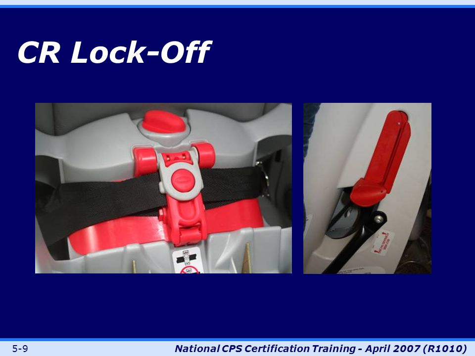 5-9National CPS Certification Training - April 2007 (R1010) CR Lock-Off