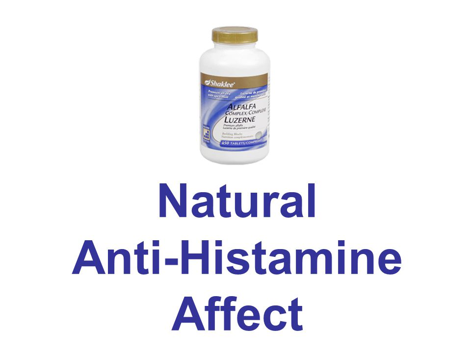 Natural Anti-Histamine Affect