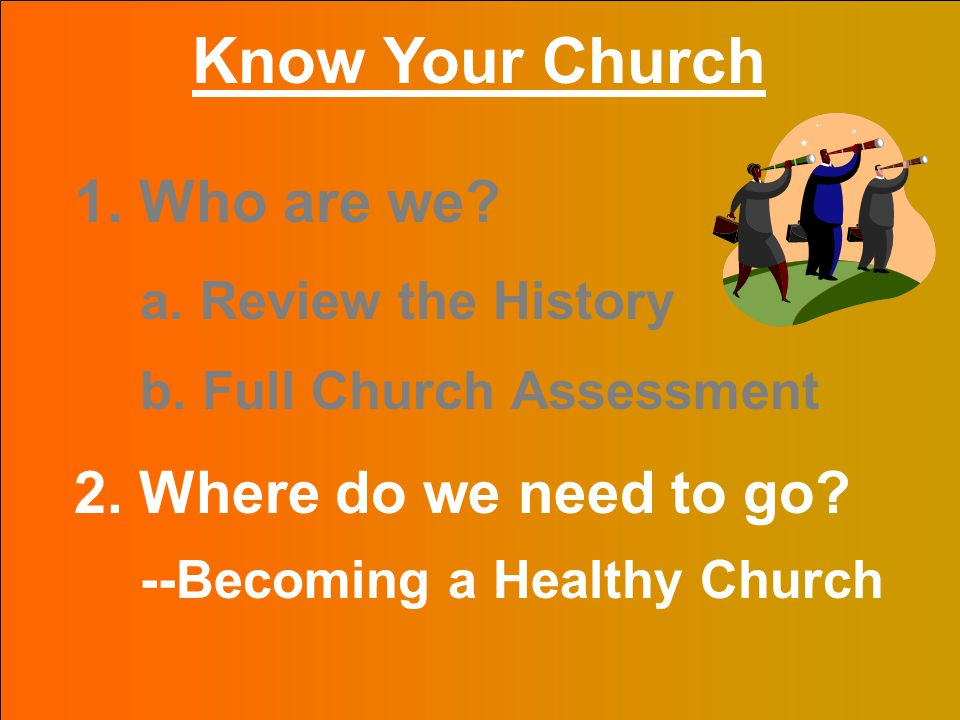 for the Body of Christ The Bottom Line The Quality of Health