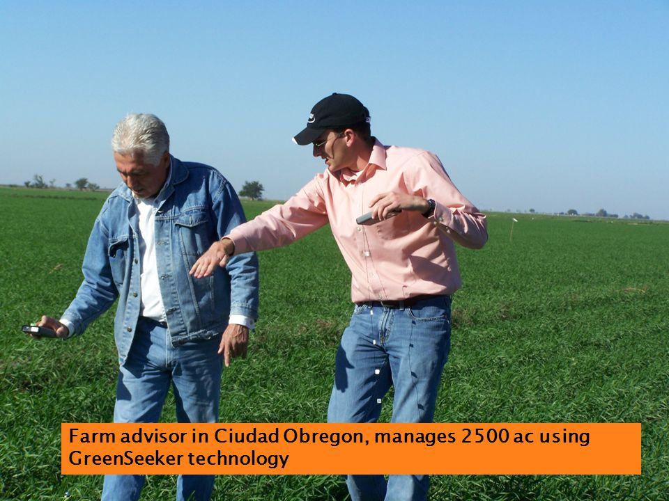Farm advisor in Ciudad Obregon, manages 2500 ac using GreenSeeker technology