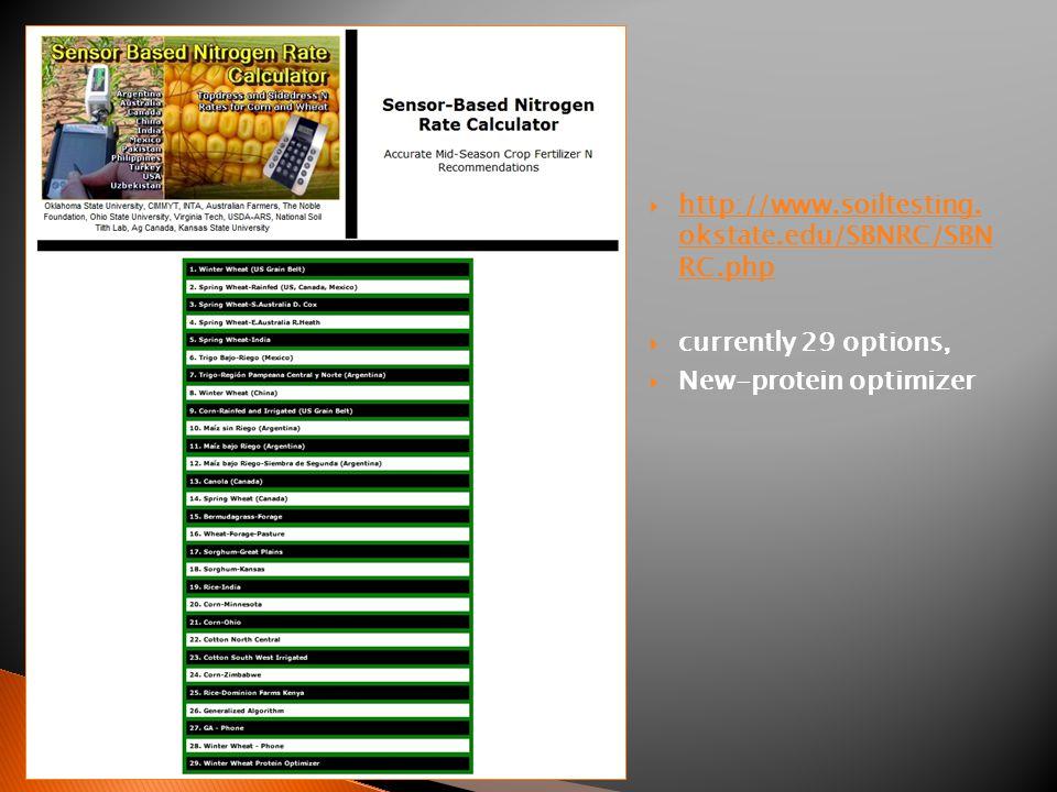  http://www.soiltesting. okstate.edu/SBNRC/SBN RC.php http://www.soiltesting.