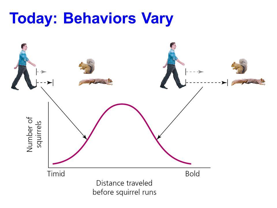 Today: Behaviors Vary