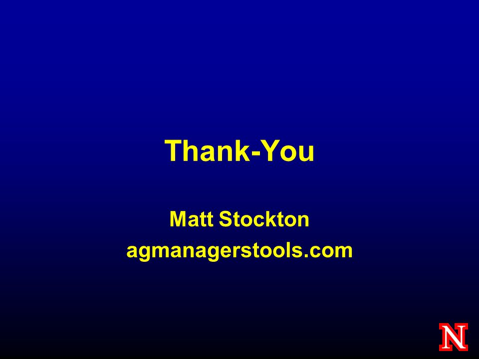 Thank-You Matt Stockton agmanagerstools.com