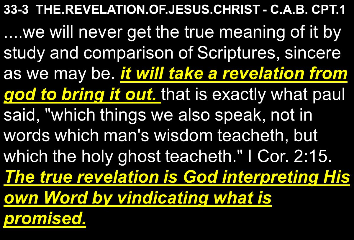 33-3 THE.REVELATION.OF.JESUS.CHRIST - C.A.B.