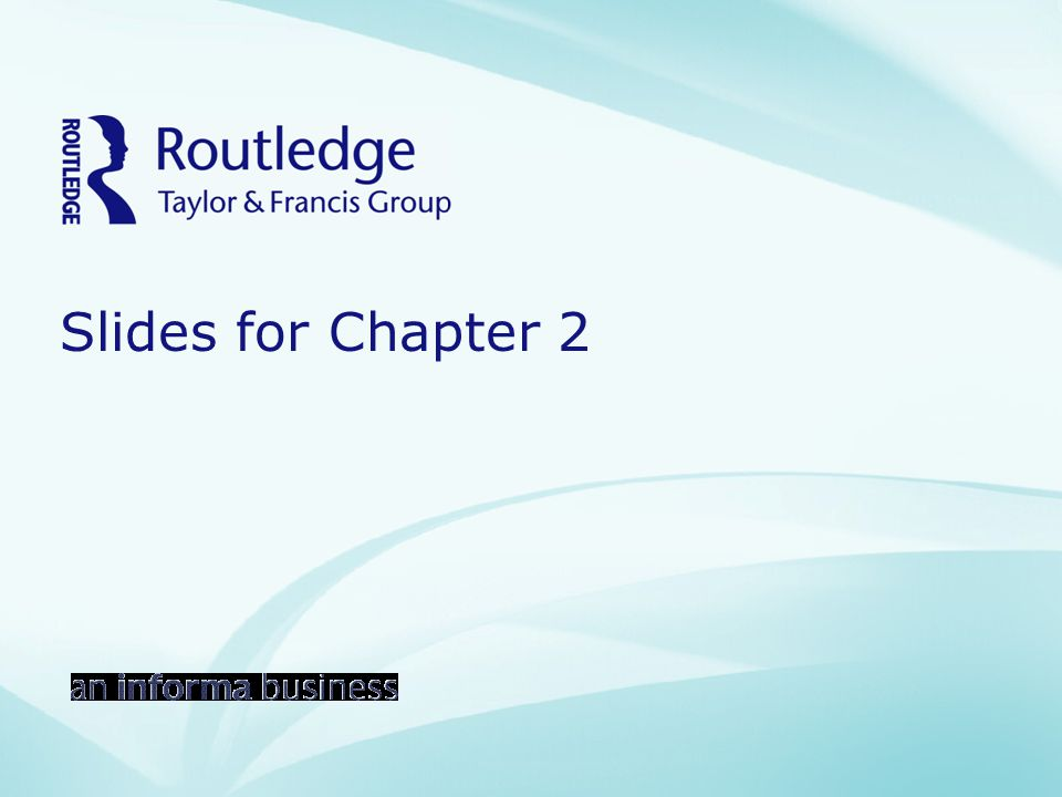 Slides for Chapter 2