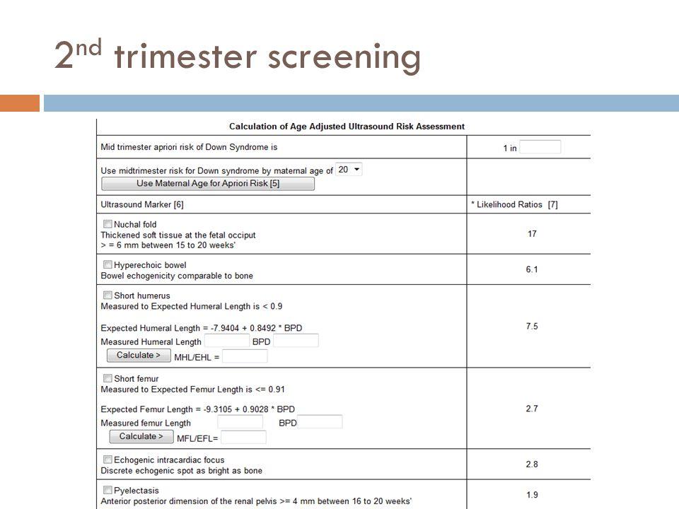 2 nd trimester screening