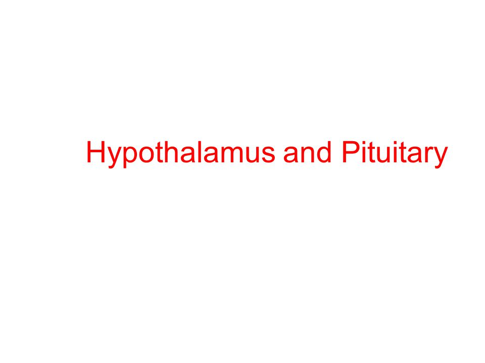 Objectives After the end of this lecture a student should be able to Name the hypothalamic hormones that regulate anterior pituitary function.