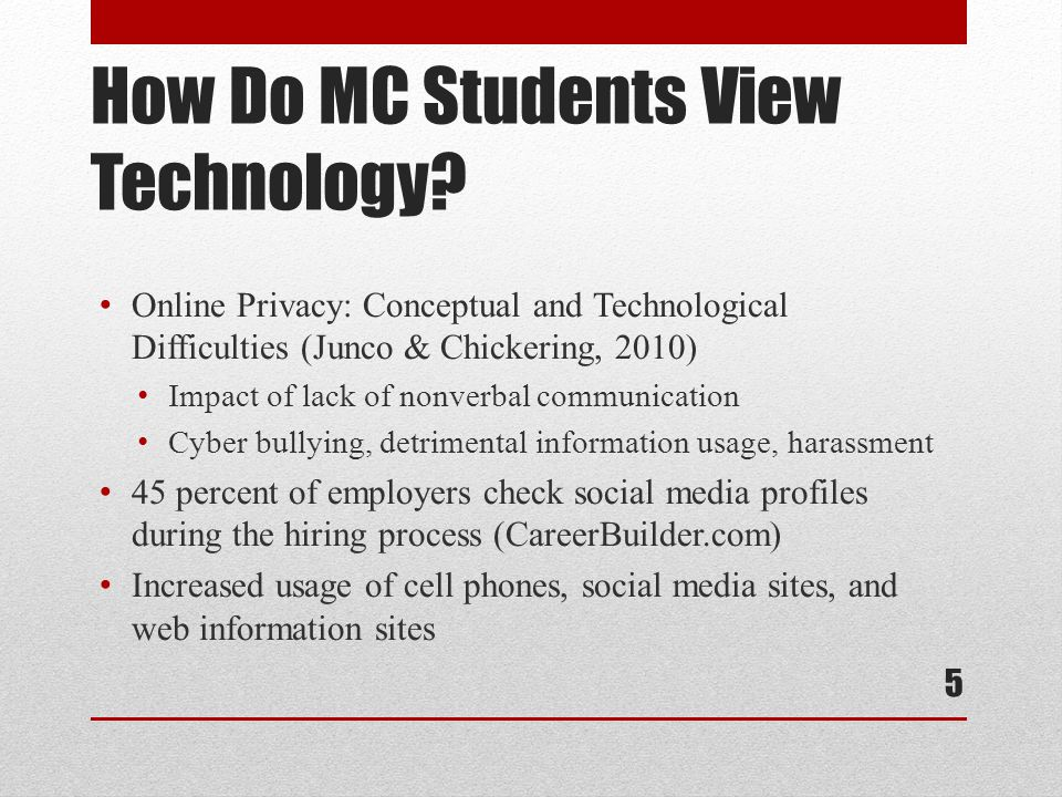 How Do MC Students View Technology.