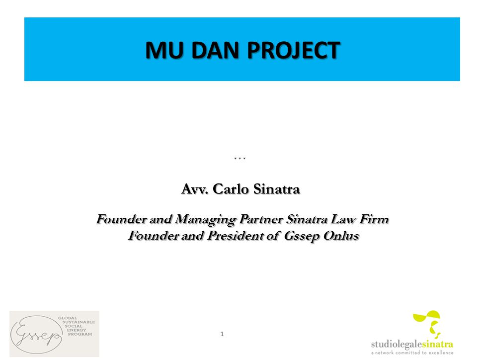 MU DAN PROJECT * * * Avv.