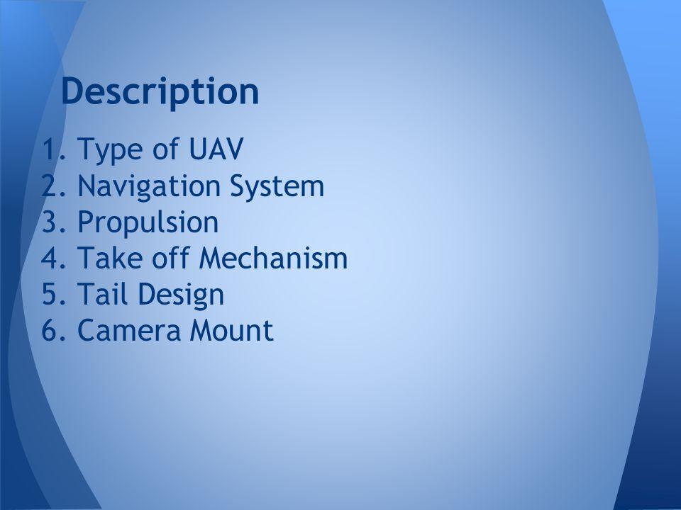Description 1. Type of UAV 2. Navigation System 3.
